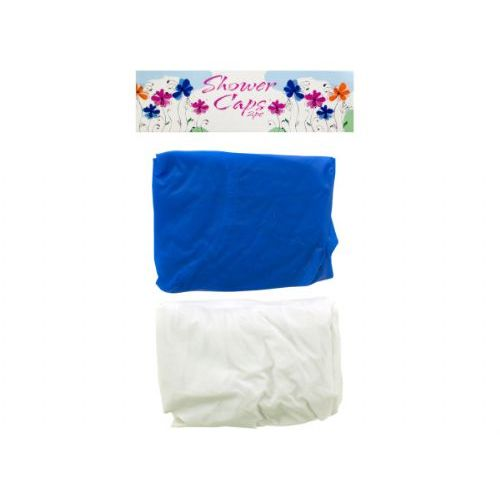 54 Units of 2 pack shower caps assorted colors