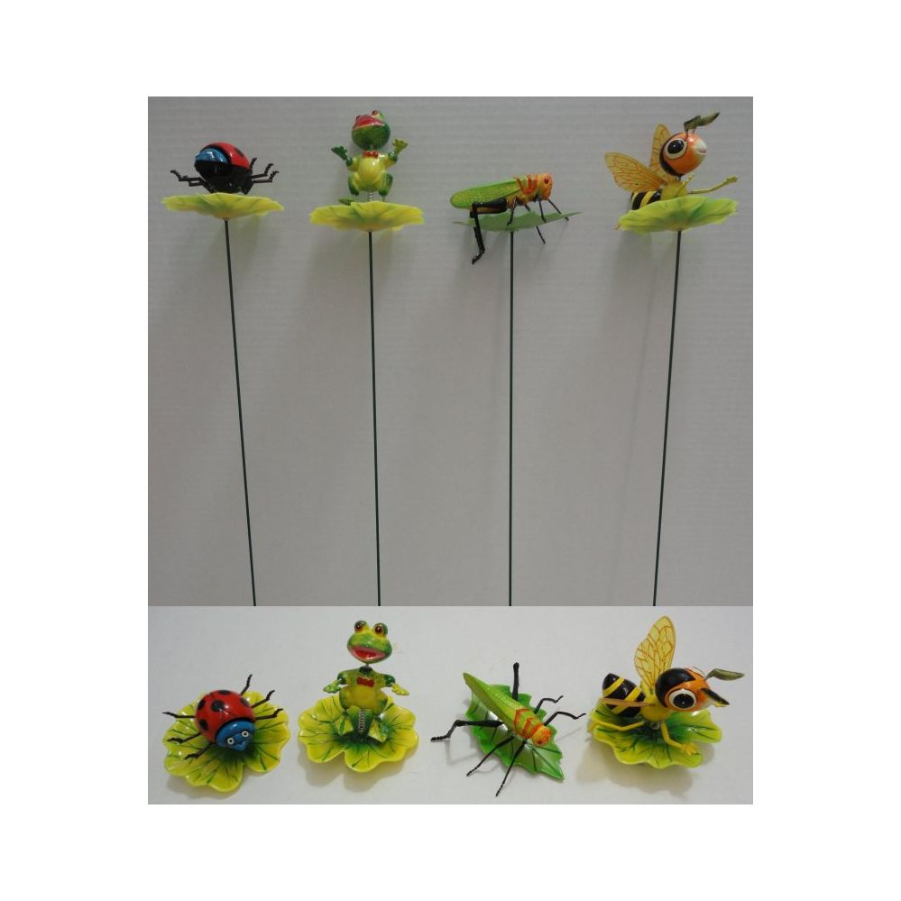 144 Units Of Yard Stake [Frog/Bee On Lily Pad]   Garden Decor   At    Alltimetrading.com