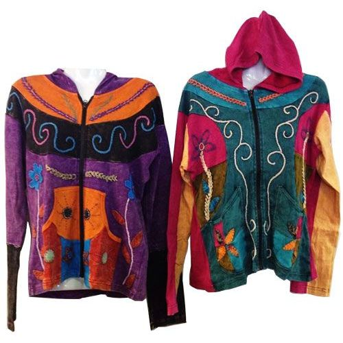 10 Units of Nepal Handmade Cotton Jackets with Hood - Womens Apparel