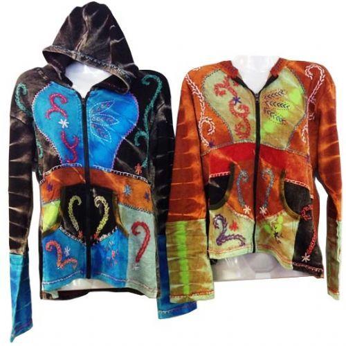 10 Units of Nepal Handmade Cotton Jackets with Hood - Womens Apparel
