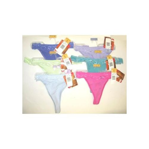 60 Units of Ladies Vassarette Cotton Thongs - Womens Panties / Underwear