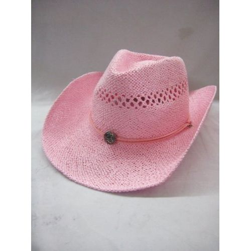 24 Units of All Pink Fashion Cowboy Hat - Cowboy   Boonie Hat - at ... f0185516662