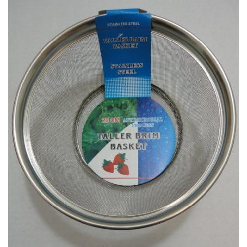 "100 Units of 9.5"" Round Mesh Stainless Steel Basket"