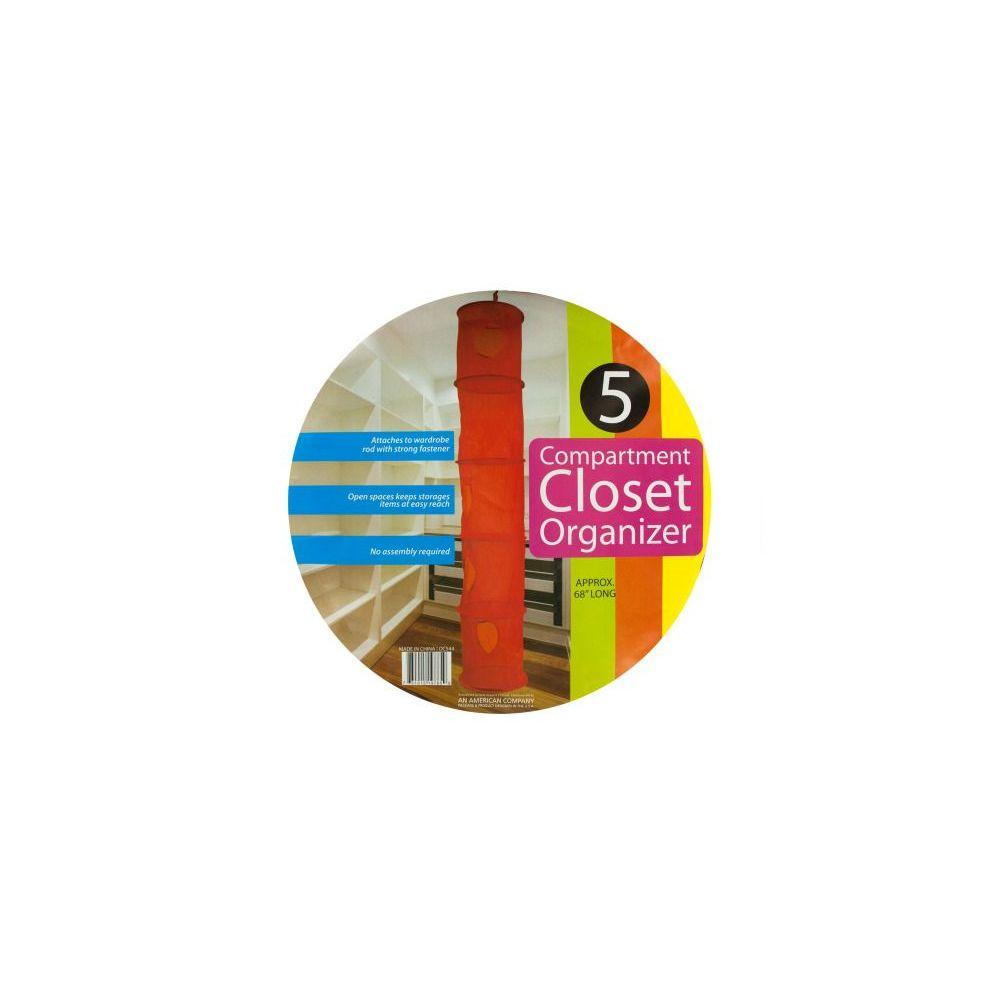24 Units of Wholesale 5 compartment closet organizer