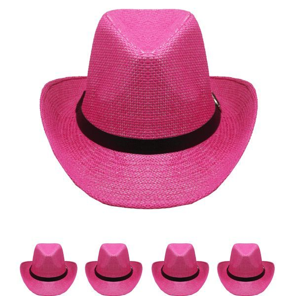 24 Units of WESTERN COWBOY HAT IN PINK - Cowboy   Boonie Hat - at -  alltimetrading.com 089894faa86