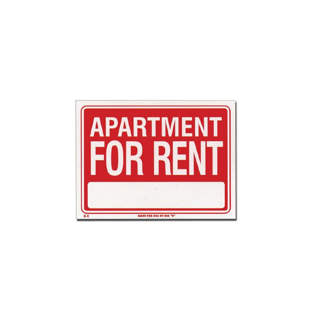 """Apartment For Rent Signs: 72 Units Of 12"""" X 16"""" Apartment For Rent Sign"""