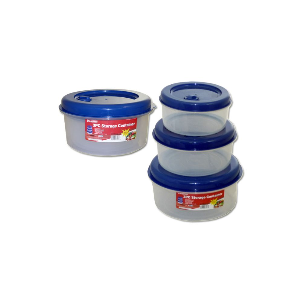 48 units of 3 piece round food containers at for 3 pieces cuisine