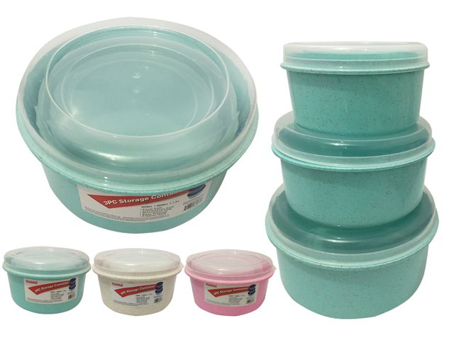 48 units of 3 piece round food container at for 3 pieces cuisine