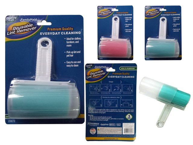 24 Units of Reusable Lint Remover With Cover - Wholesale Apparel Accessories