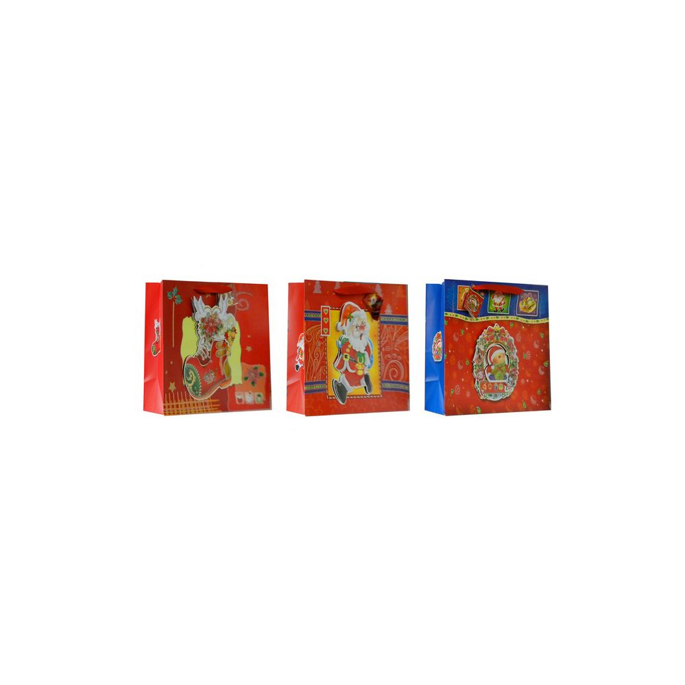 108 Units of Christmas Wide Sized Gift Bag - Christmas Gift Bags and Boxes