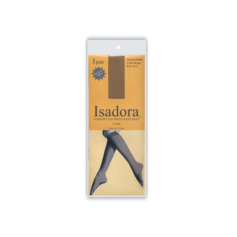 120 Units of 1 Pack Isadora Sheer Knee High QUEEN SIZE