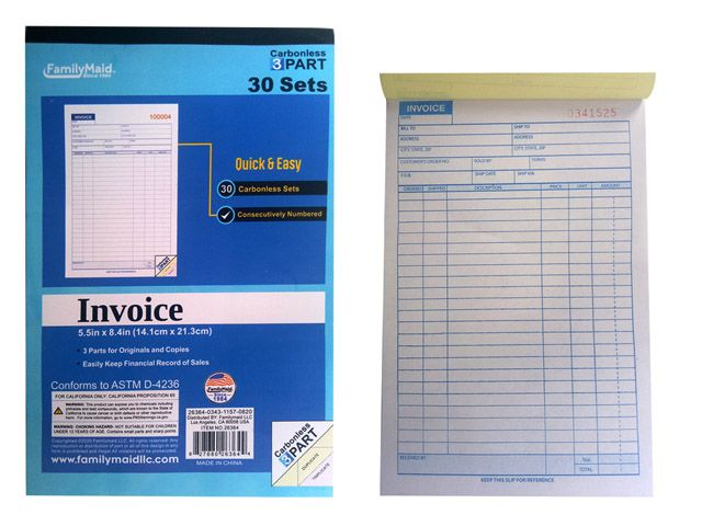 Units Of Part Invoice Book Sets Sales Order Book At - 3 part invoice book