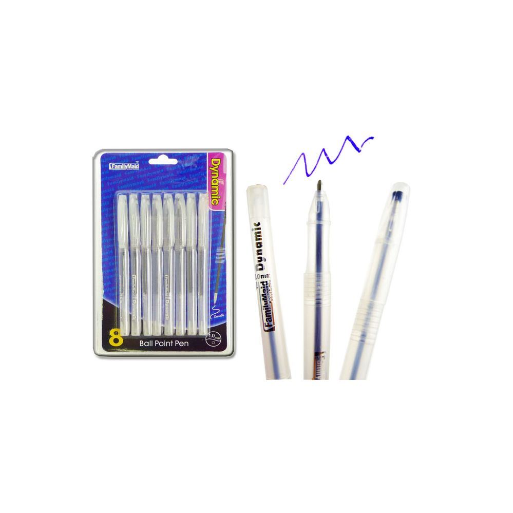 108 Units of BALL POINT PENS 8PC 1.0 BLUE