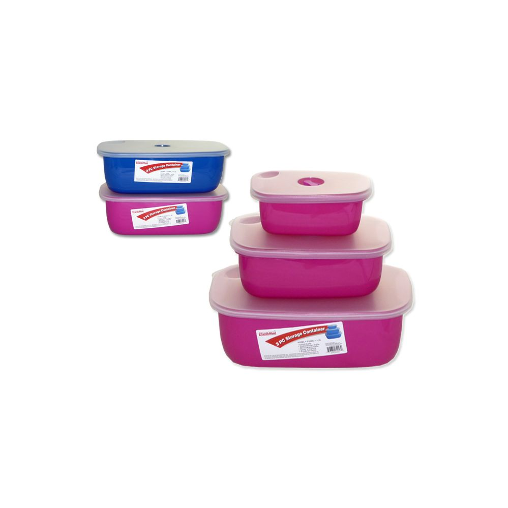 48 units of 3 piece food storage container at for 3 pieces cuisine