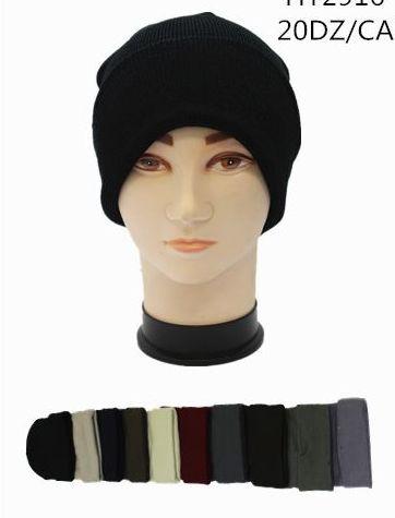 120 Units of Solid Colors Toboggan Winter Hats