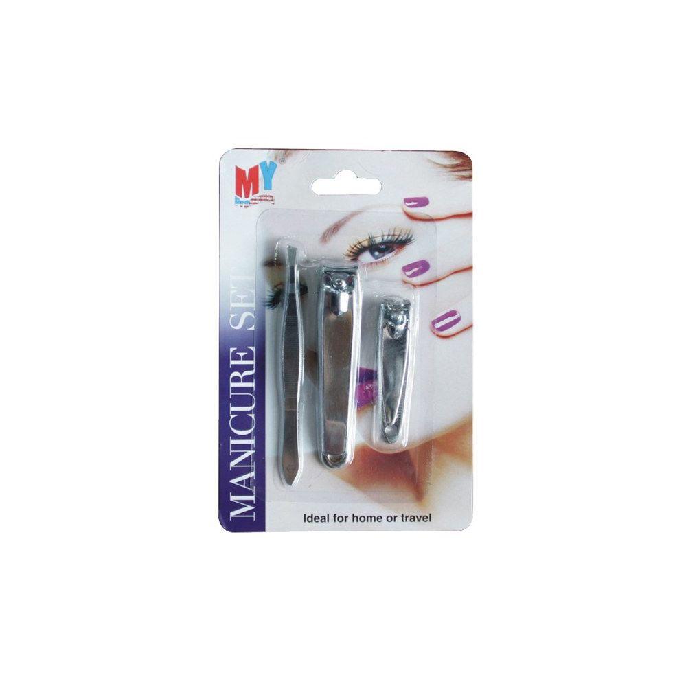 96 Units of Manicure Set Card Display 3pk - Cosmetics