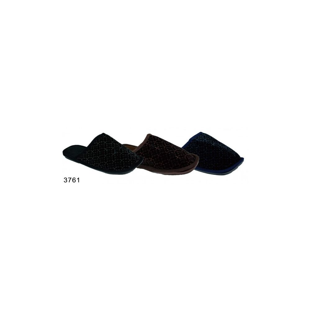 100 Units of Mens Winter House Slippers Assorted Dark Colors
