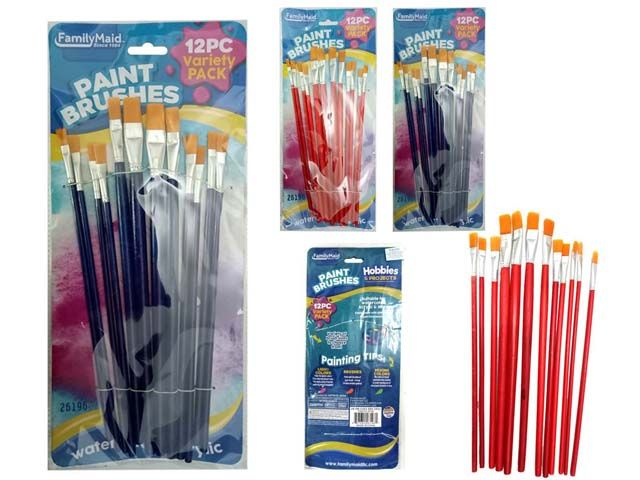 72 Units Of 12pc Artist Paint Brushes Paint And Supplies