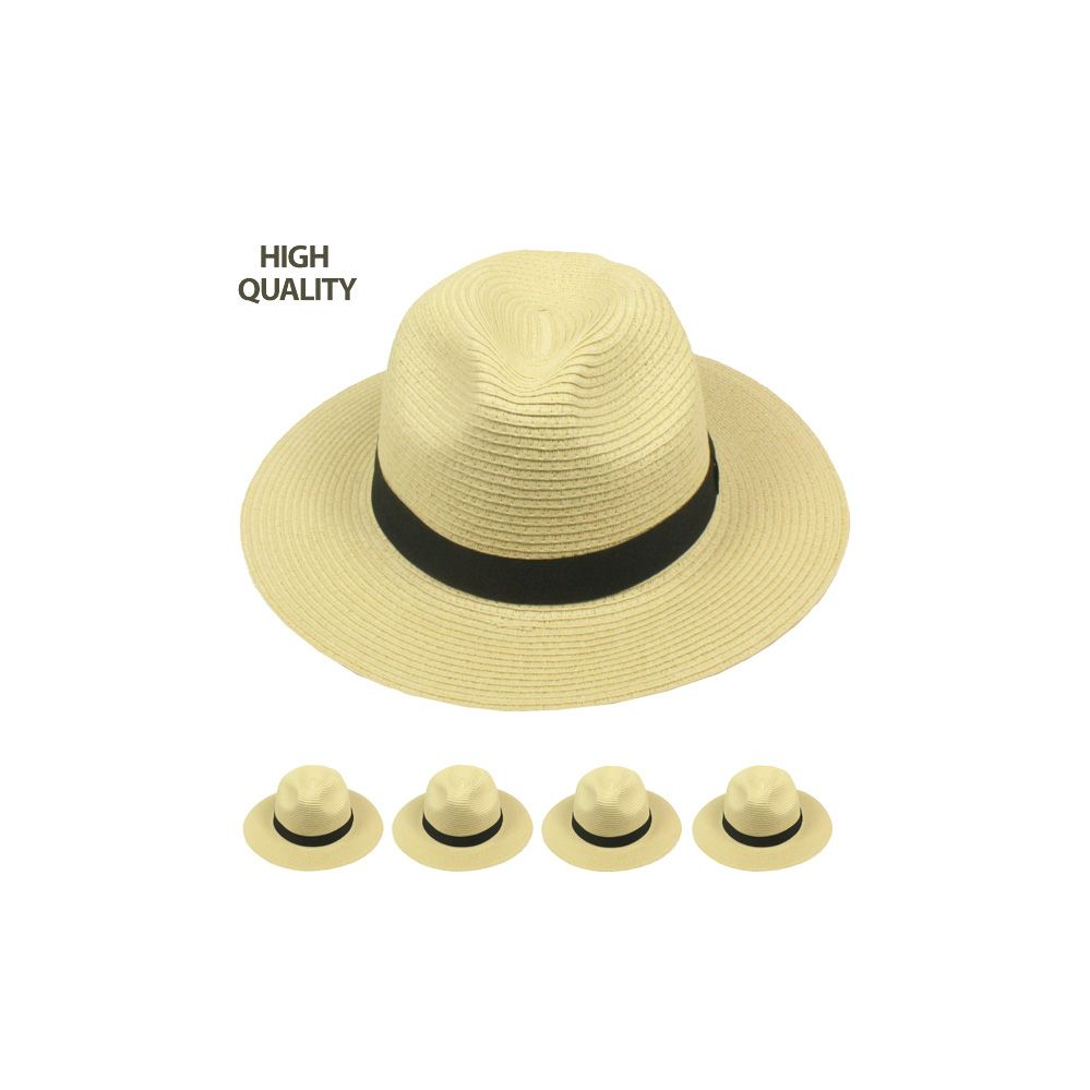 24 Units of TAN COLORED FEDORA HAT WITH BLACK BAND - Fedoras d901e05e685