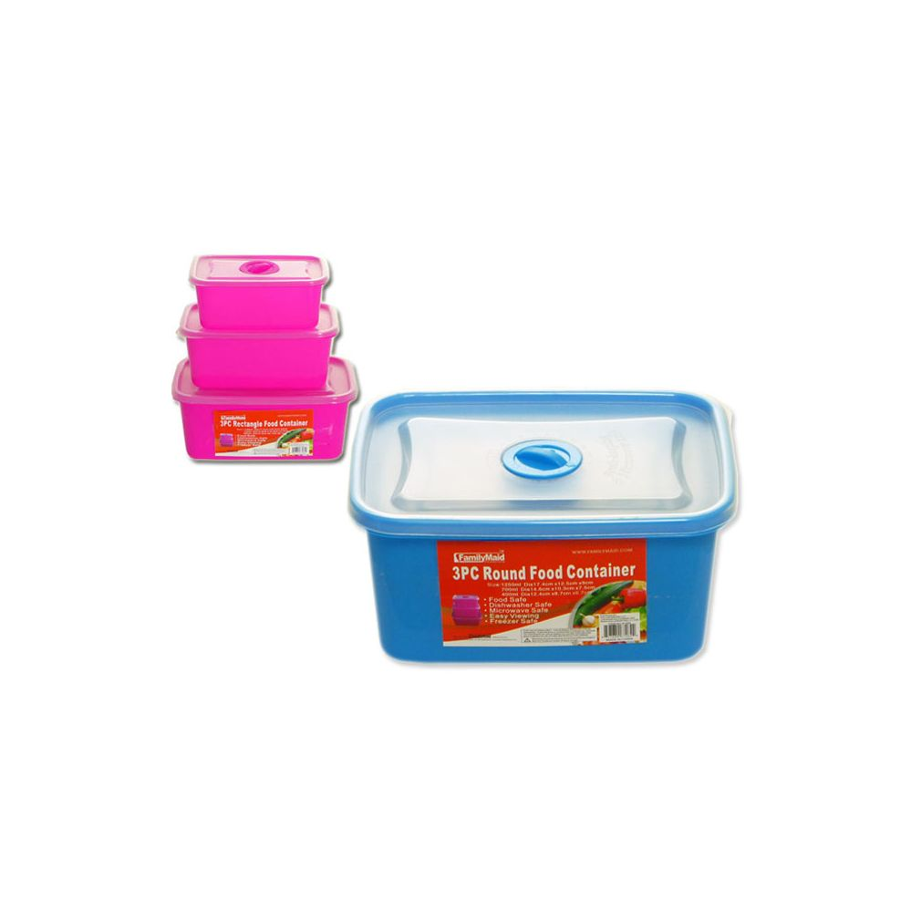 72 units of 3 piece recangle food container at for 3 pieces cuisine
