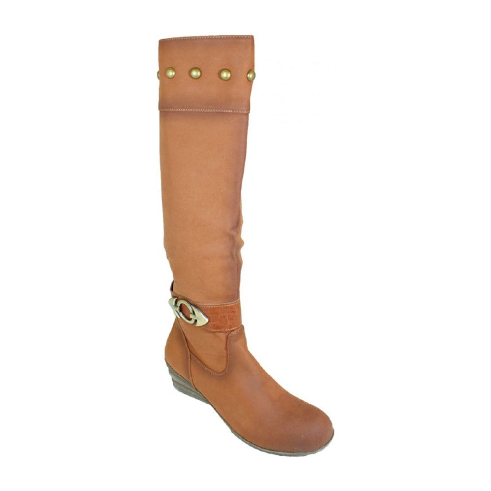 10 Units of Ladies Long Fashion Winter Boots In Assorted Camel And Coffee