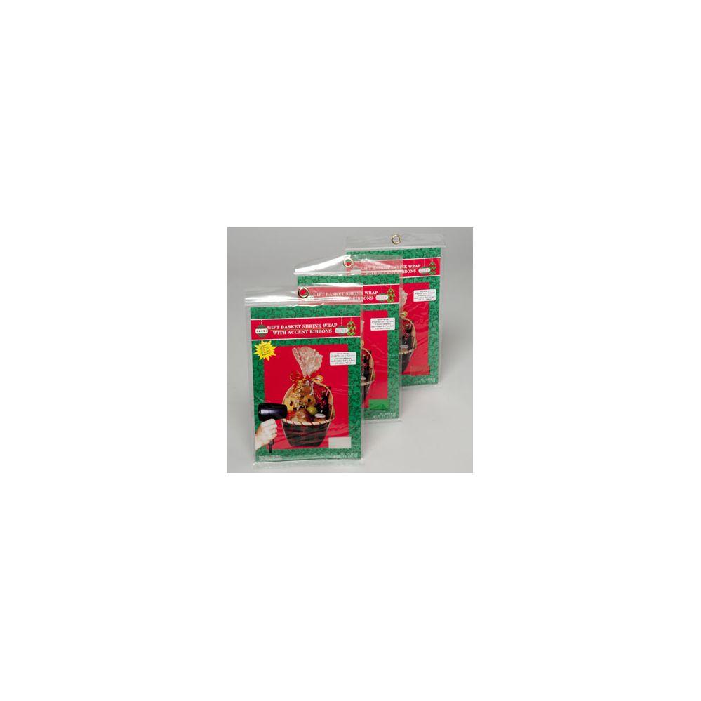 96 Units of Gift Basket Shrink Wrap Christms - X-MAS