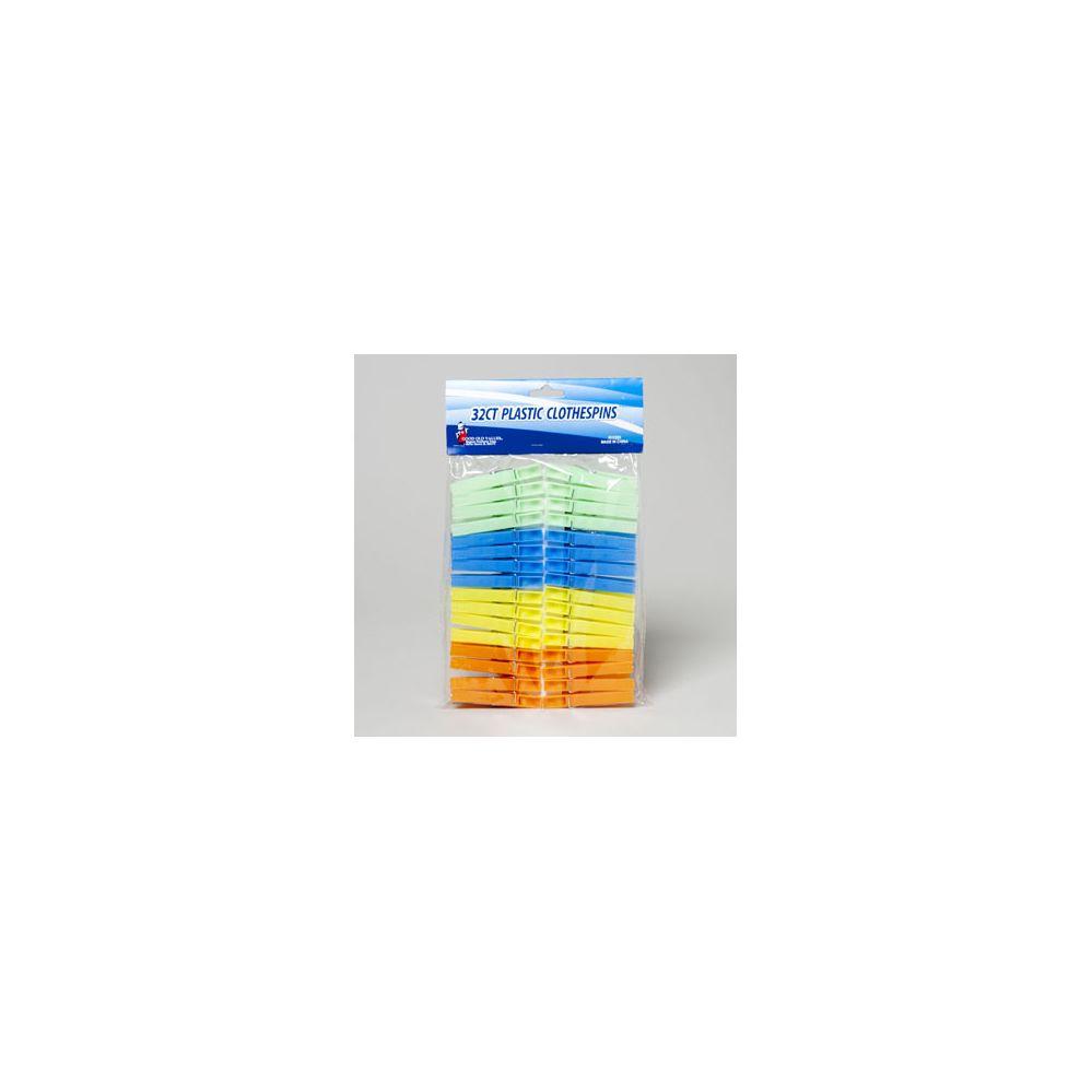 108 Units of Clothespins Plastic 32ct