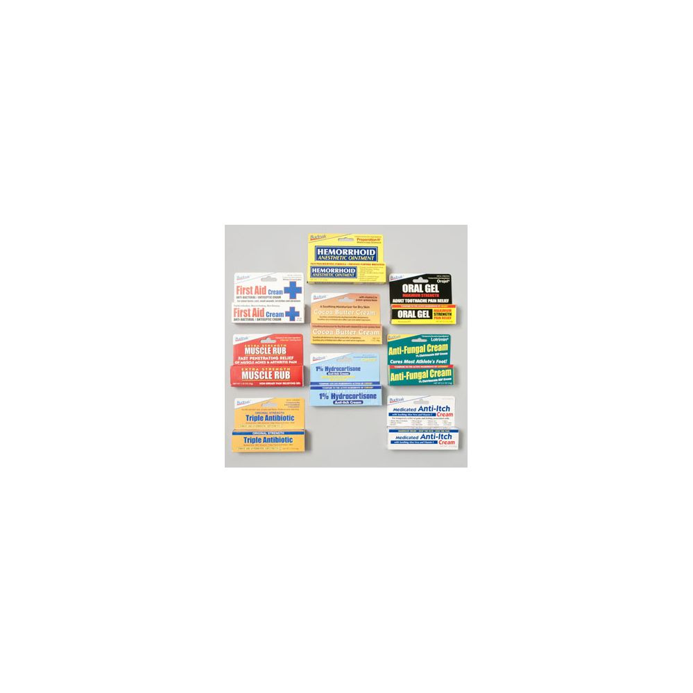 Cream And Ointment Floor Display 144 Pc - 12 Items
