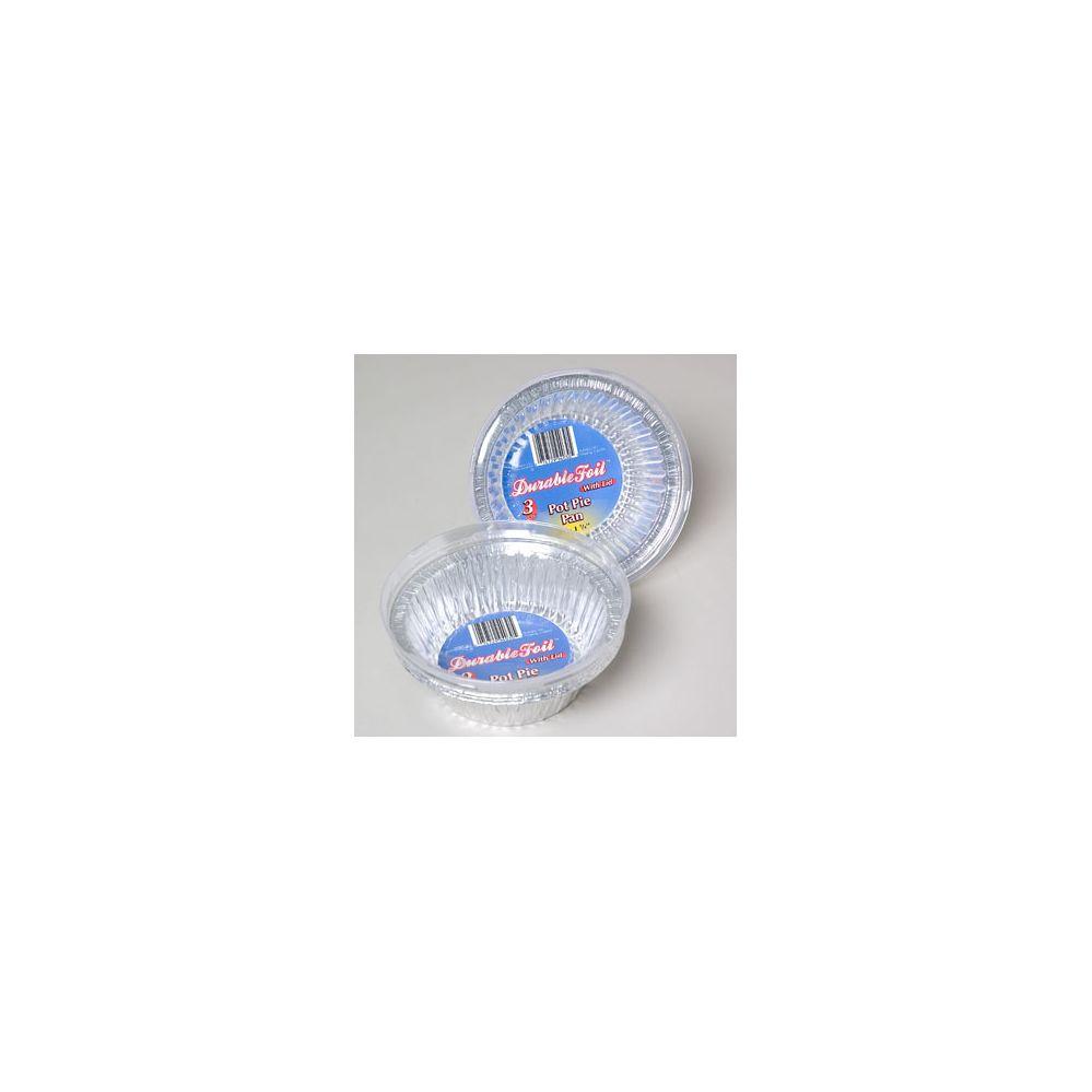 96 Units of Aluminum Pot Pie Pan W/lid 3pk 5 X 1.75 - Kitchen Trays