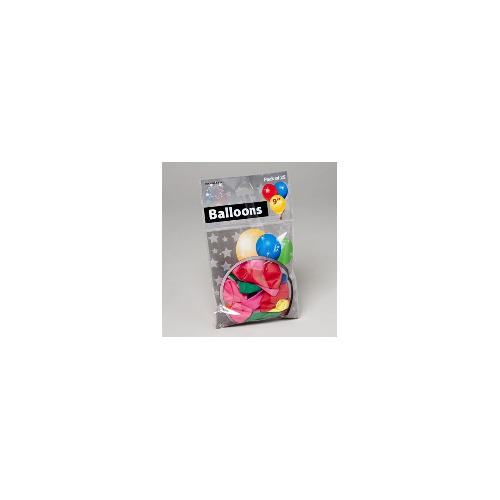 144 Units of 25ct 9in Asst Color Latex Rubber Balloons W/ Gov Logo Printed - Balloons/Balloon Holder