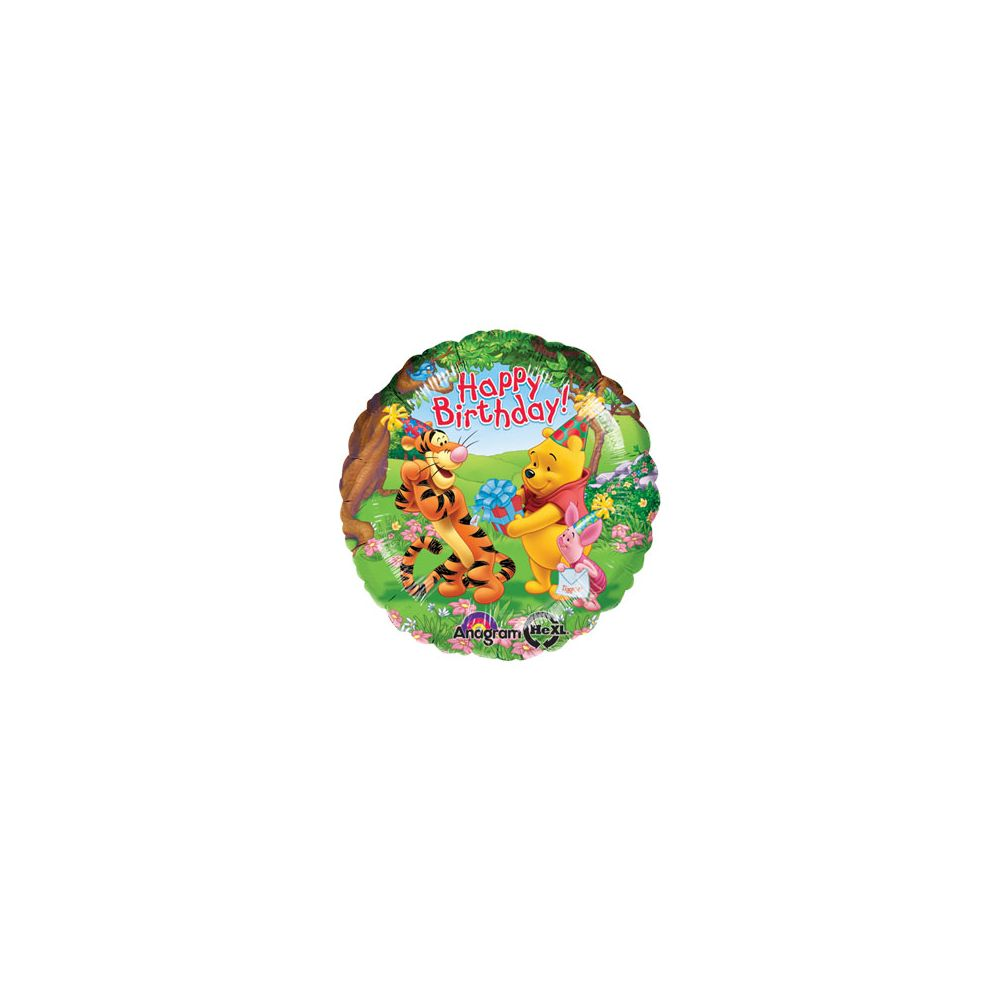100 Units of AG 18 LC Pooh & Friends H B-Day - Balloons/Balloon Holder