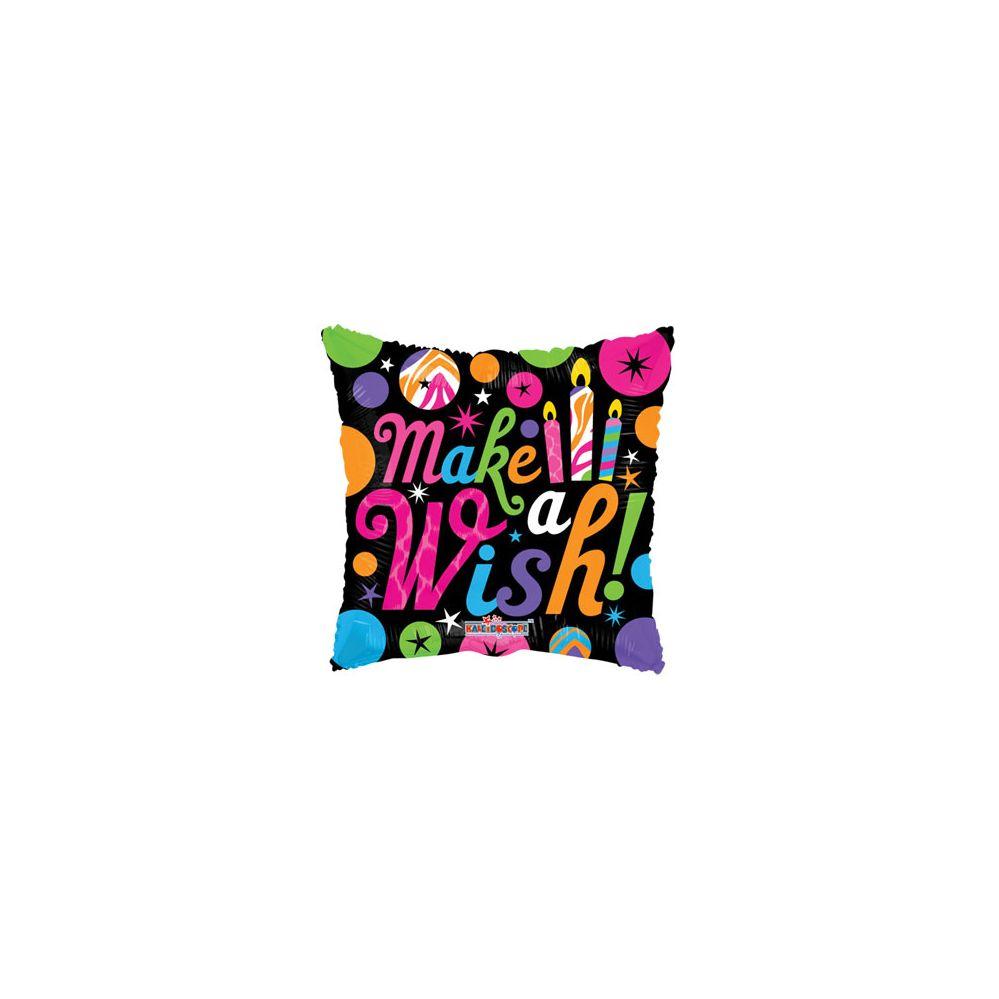 100 Units of CV 18 DS Make A Wish Black balloon