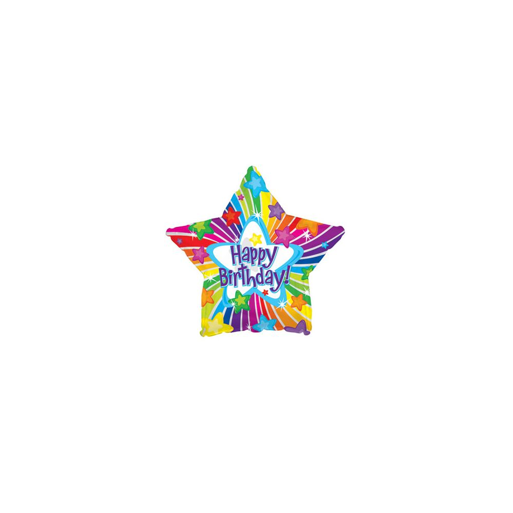 100 Units of CT 17 DS Happy B-Day Bright Stars balloon