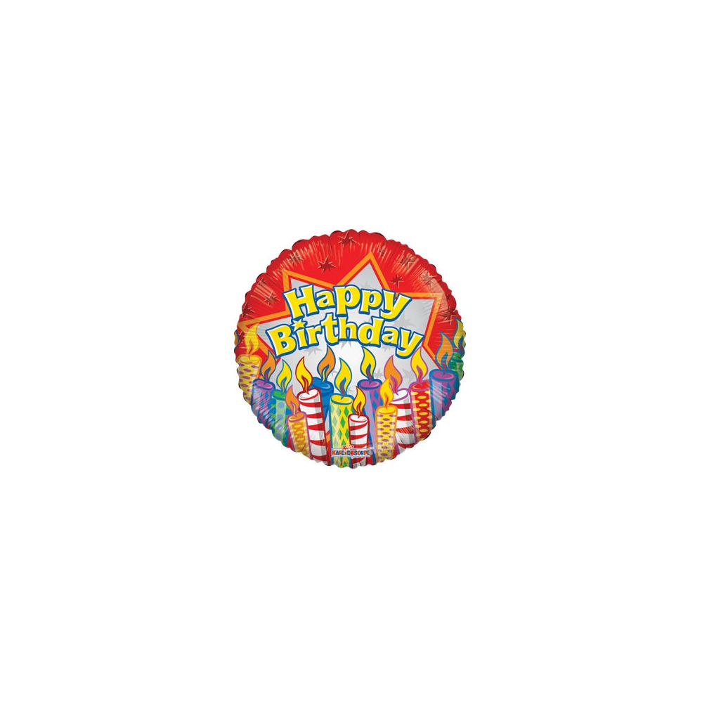 100 Units of CV 18 DS Birthday Candles - Balloons/Balloon Holder