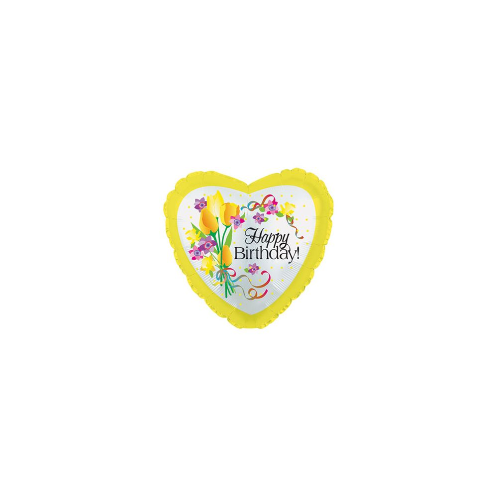 100 Units of CT 17 DS Birthday Yellow Floral - Balloons/Balloon Holder