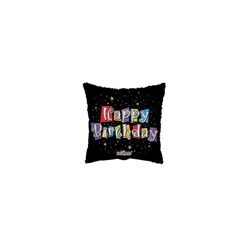 100 Units of CV 18 SS Birthday Black - Balloons/Balloon Holder