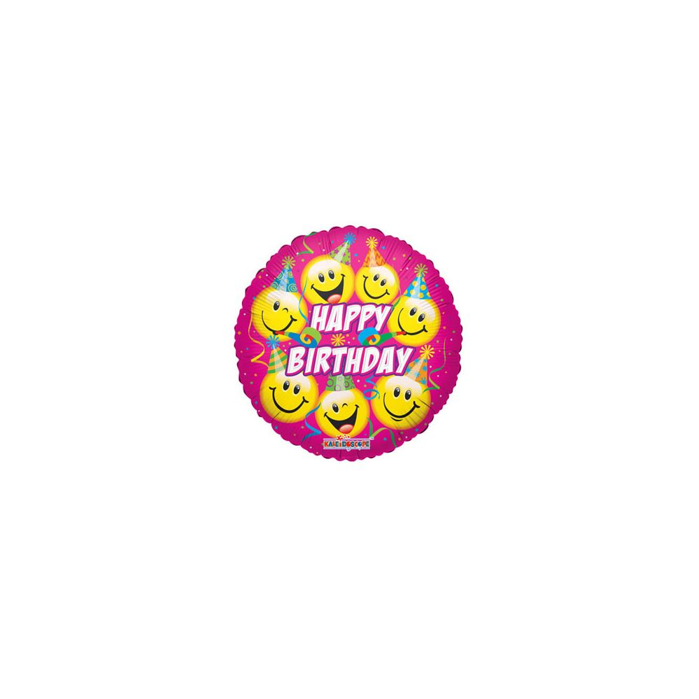 100 Units of CV 18 SS B-Day Smiles Party Hat - Balloons/Balloon Holder