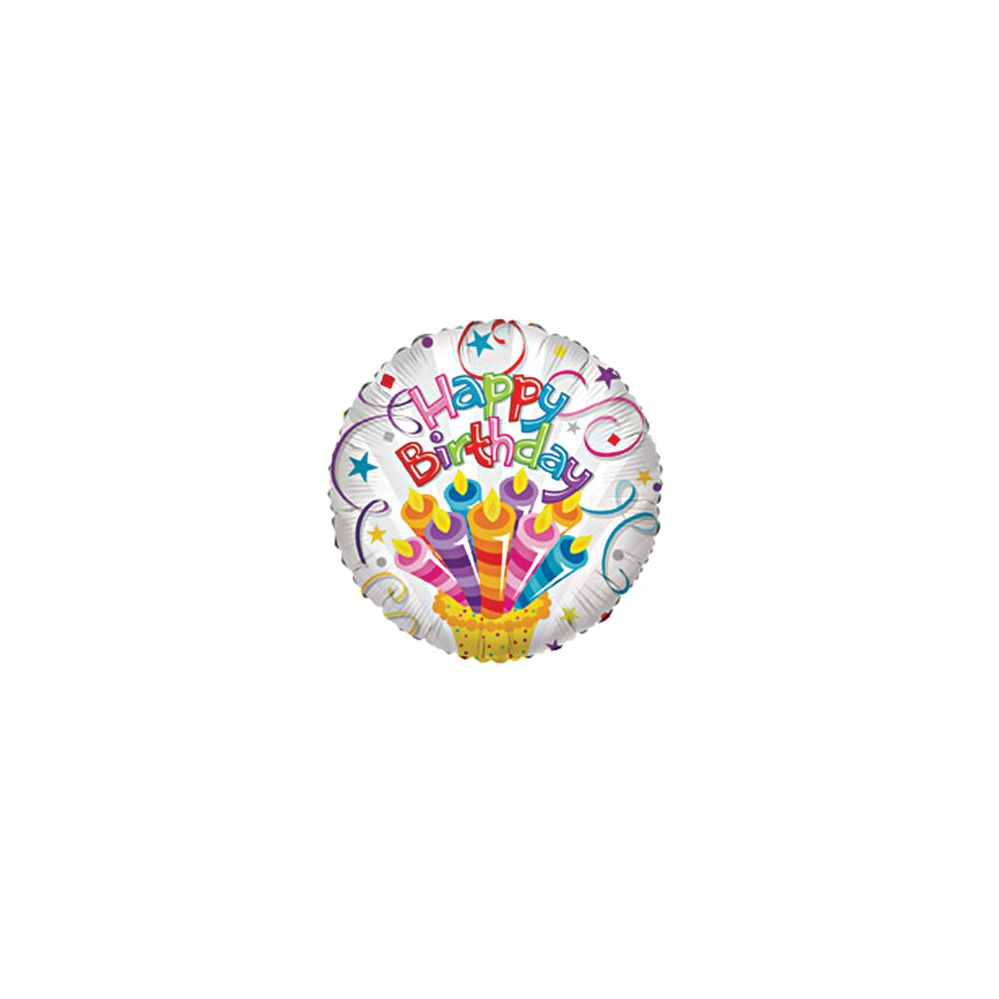 "100 Units of CV 18"" SS H B-day w/Candle - Balloons/Balloon Holder"
