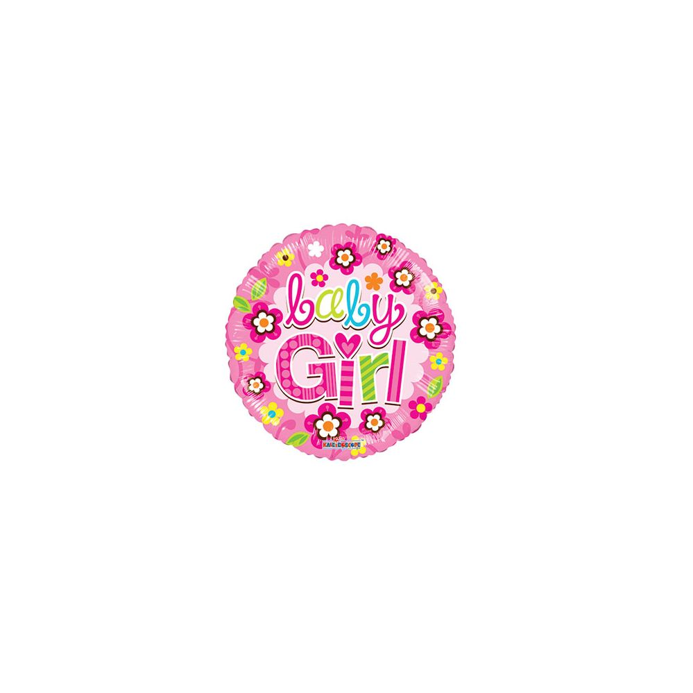 100 Units of CV 18 DS Baby Girl Pink Flowers - Balloons/Balloon Holder