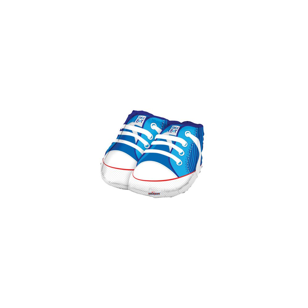 100 Units of CV 18 DS Baby Boy Shoes Shape Balloon - Balloons/Balloon Holder