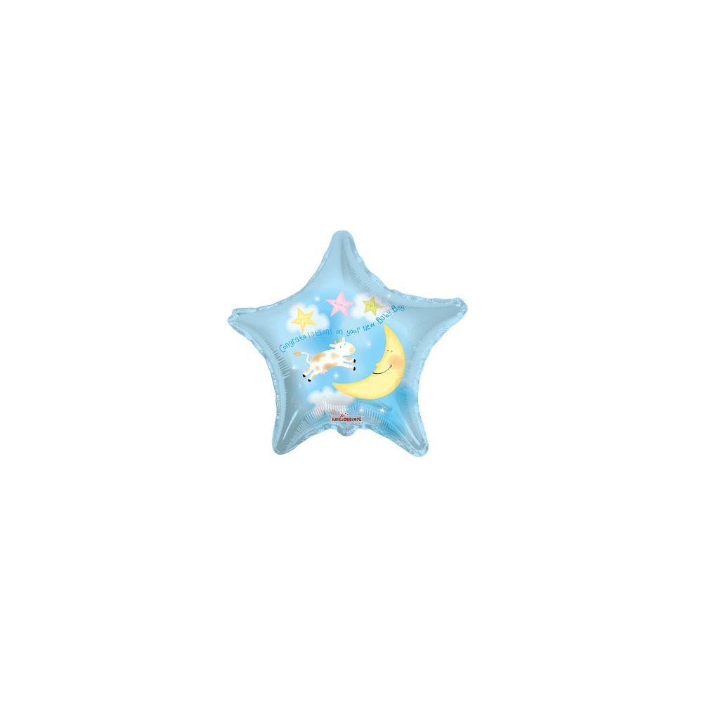 100 Units of CV 18 DS Congrat Baby Boy Star - Balloons/Balloon Holder