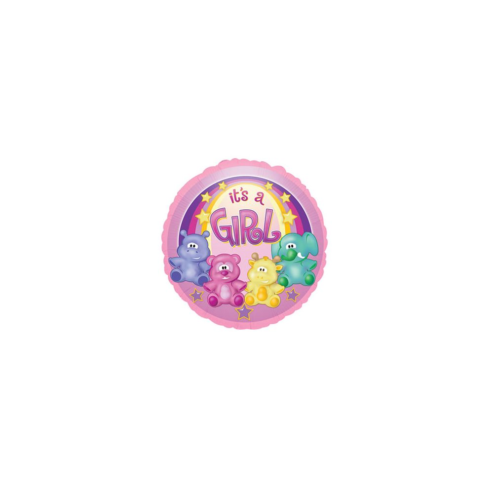 100 Units of CT 17 DS It's A Girl Zoo - Balloons/Balloon Holder