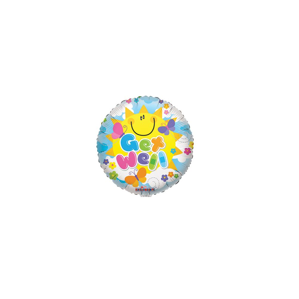 100 Units of CV 18 SS Sunny Get Well - Balloons/Balloon Holder