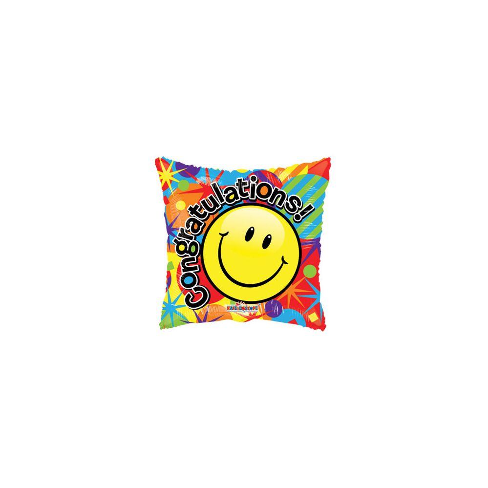 100 Units of CV 18 DS Smiley Congrats Gelli - Balloons/Balloon Holder