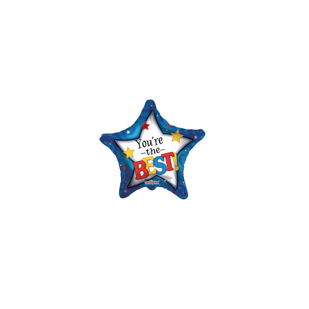 100 Units of CV 18 SS You're the Best Star - Balloons/Balloon Holder