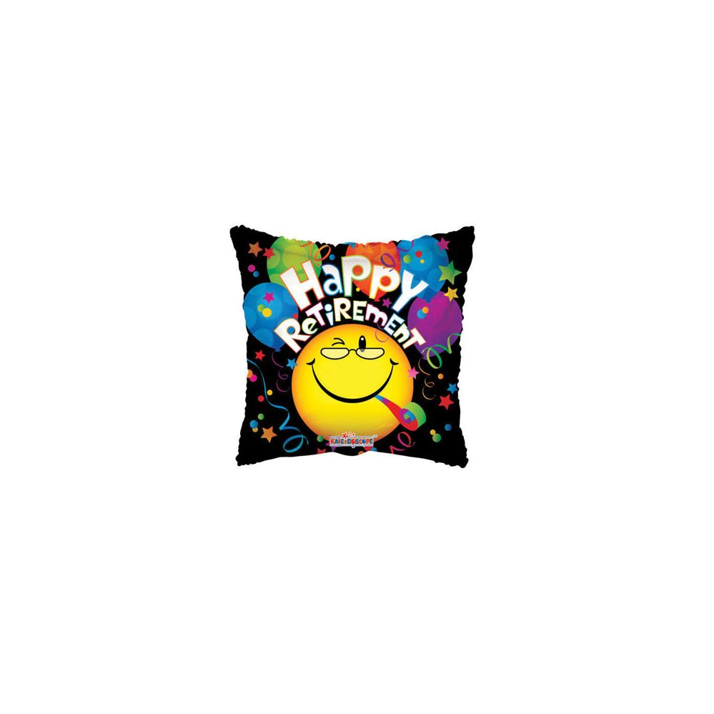 100 Units of CV 18 DS H Retirement Smiley - Balloons/Balloon Holder