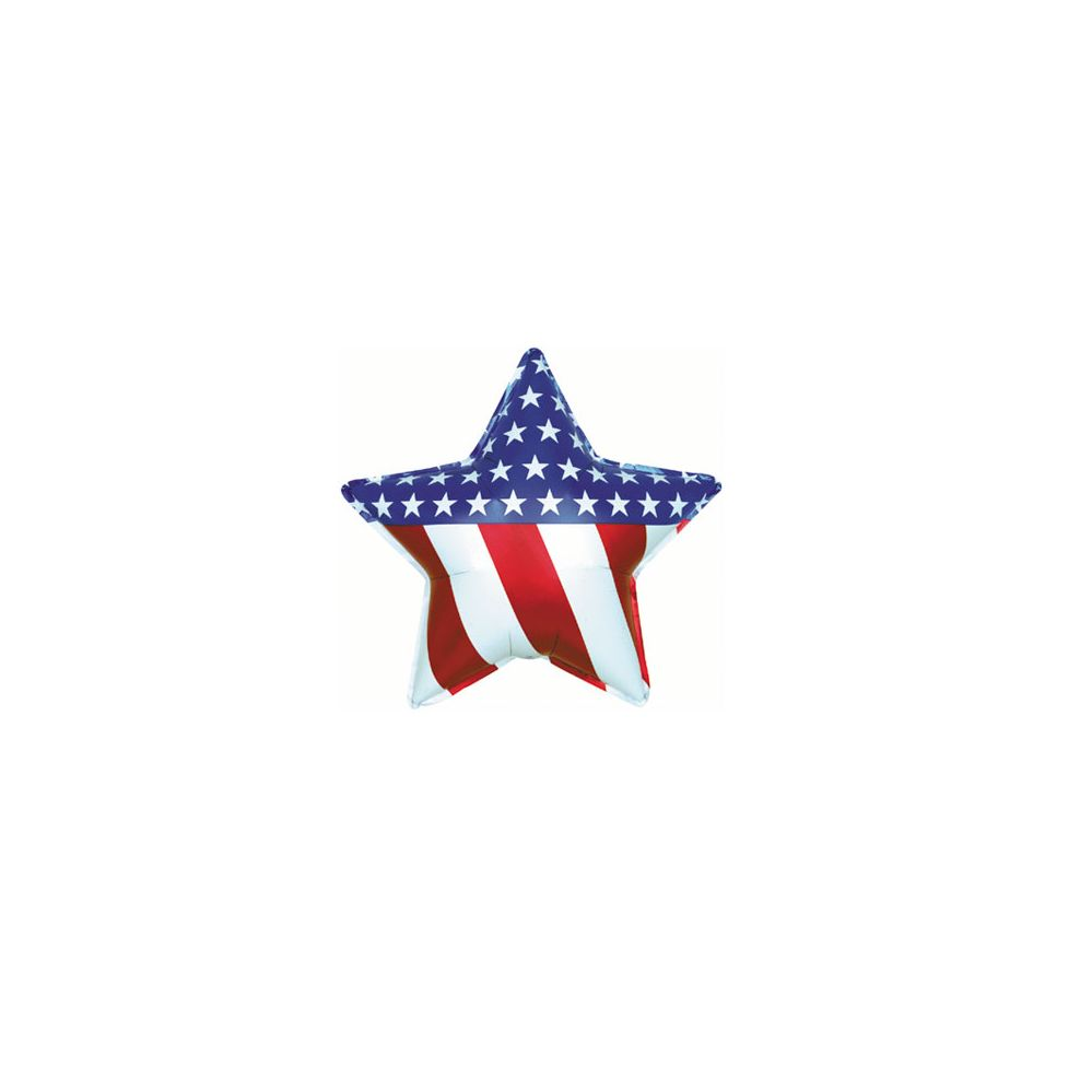 100 Units of CT 17 DS Patriotic Star - Balloons/Balloon Holder