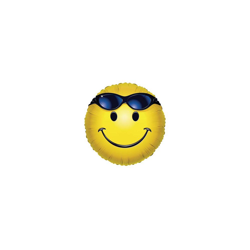 100 Units of CV 18 DV Smiley w/Glasses - Balloons/Balloon Holder