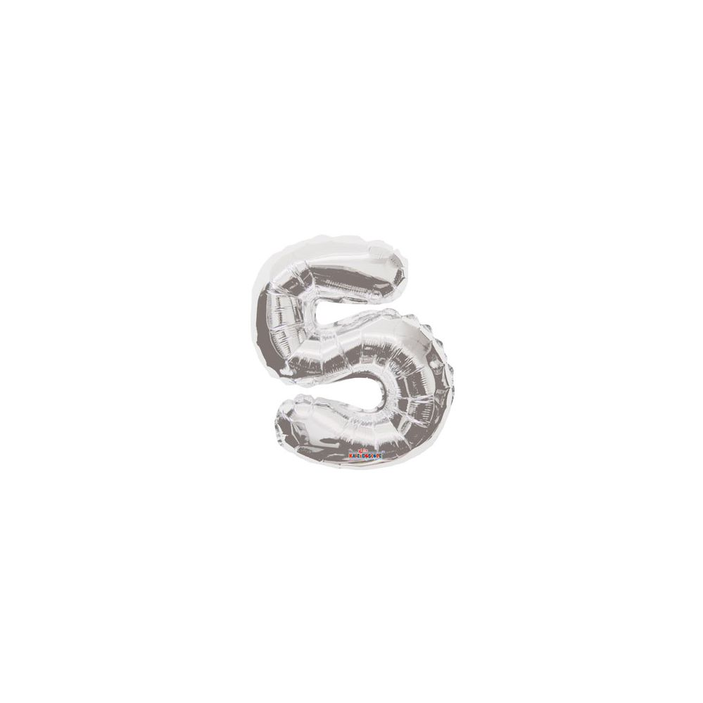 100 Units of CV 14 DS Silver Number 5 - Balloons/Balloon Holder