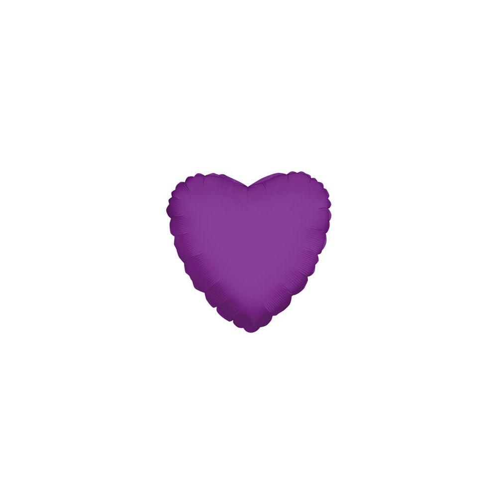 100 Units of CV 18 DS Heart Purple - Balloons/Balloon Holder
